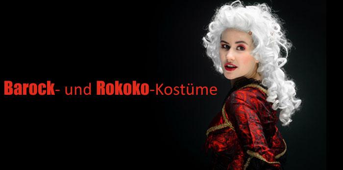 Barock- und Rokoko-Kostüme für Fasching
