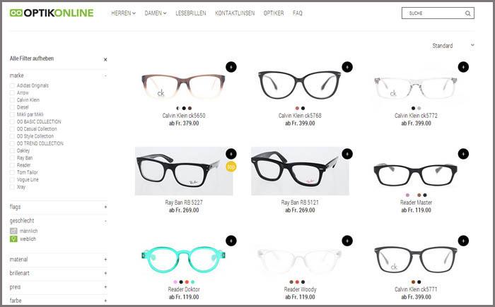 Optikonline.ch - Brillen