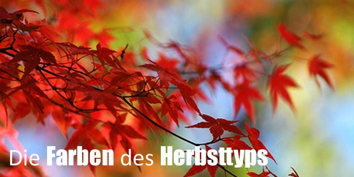 Farben des Herbsttyps