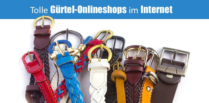 Tolle Gürtel-Onlineshops im Internet