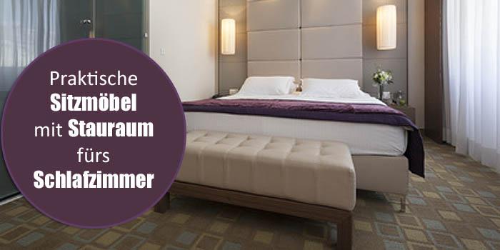 Praktische Sitzgelegenheiten mit Stauraum für das Schlafzimmer